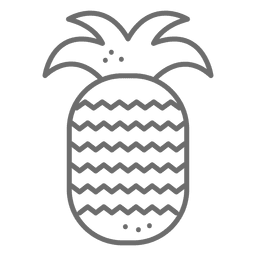 Pineapple icon stroke