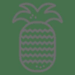 Traço de ícone de abacaxi