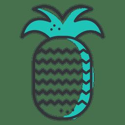 Icono de trazo de piña