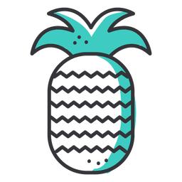 Pineapple stroke icon