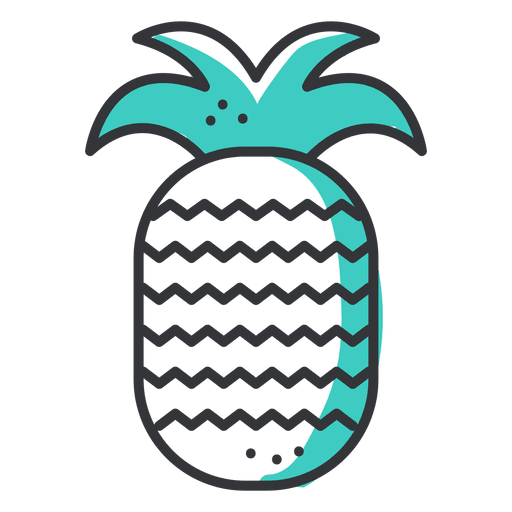 Pineapple stroke icon Transparent PNG