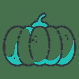 Icono de trazo de calabaza
