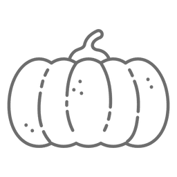 Pumpkin Halloween stroke icon