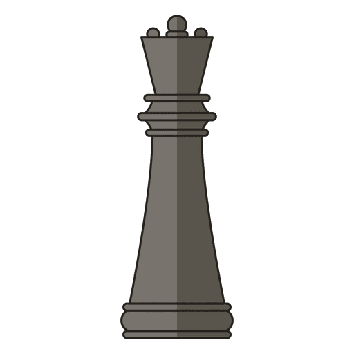 Queen chess figure black Transparent PNG