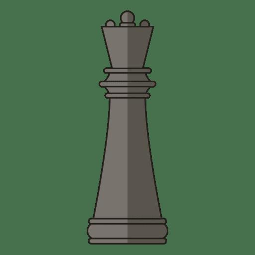 Rainha xadrez figura negra Transparent PNG