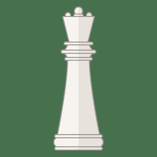 Figura da rainha xadrez branca