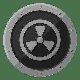 Radioactive metal symbol