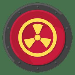 Color del símbolo metálico radiactivo