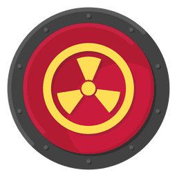 Cor do símbolo de metal radioativo