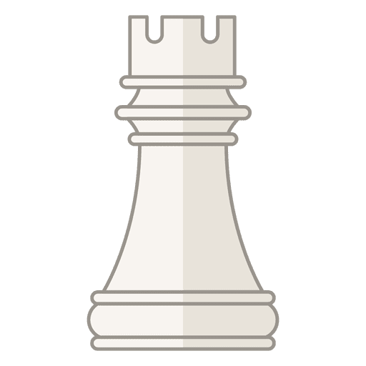 Rook chess figure white Transparent PNG
