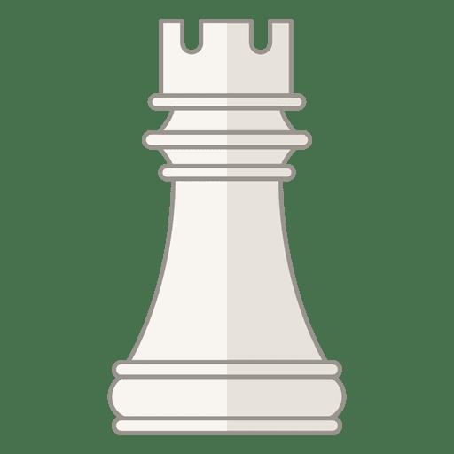 Rook chess figure white