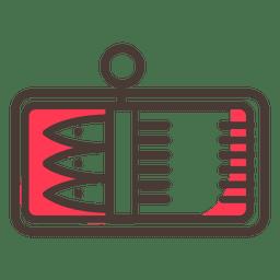 Icono de trazo de sardina