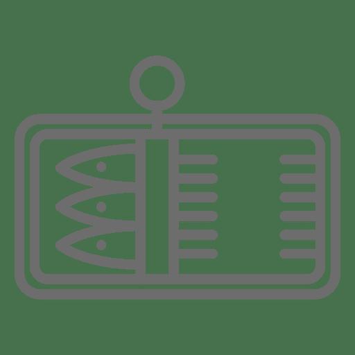 Sardines stroke icons Transparent PNG