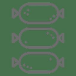 Icono de trazo de salchicha