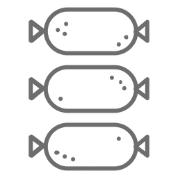 Sausage stroke icon