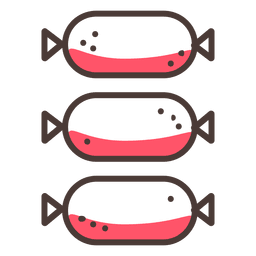 Three sausage stroke icon
