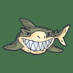 Haifisch-Fisch-Cartoon