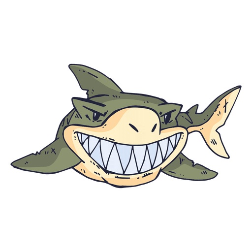 Desenhos Animados Do Tubarão Dos Peixes