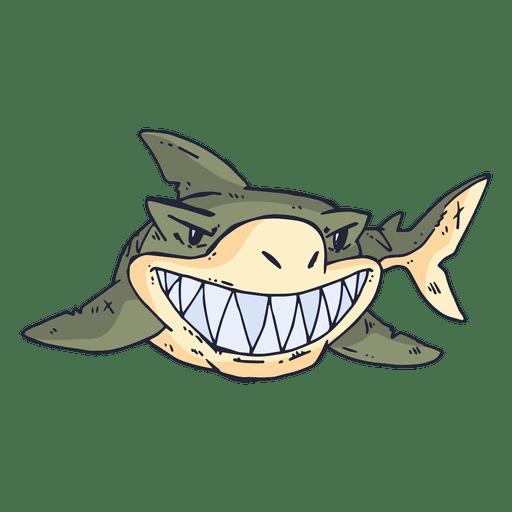 Dibujos animados de peces tiburones Transparent PNG