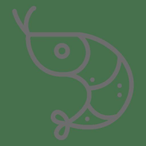 Icono de movimiento de camarón Transparent PNG