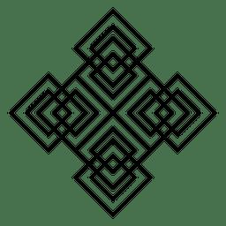 Quadratische Logoform