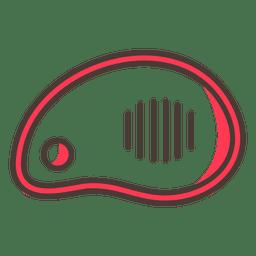 Icono de carne de res plana
