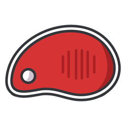 Ícone plana de carne de bife
