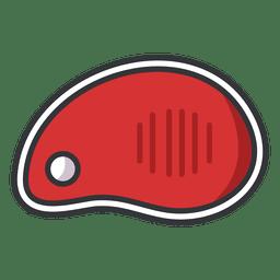 Icono plano de carne de filete