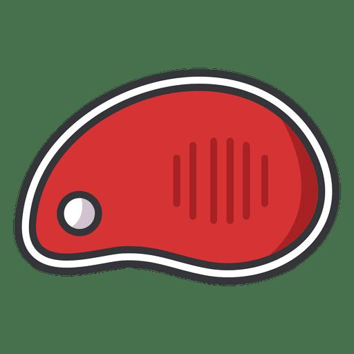 Steak meat flat icon