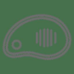 Ícone de traçado de bife de carne