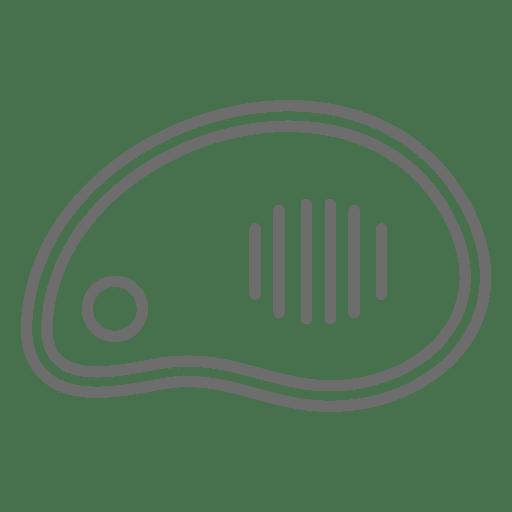 Meat steak stroke icon