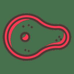 Icono de trazo sabroso bistec