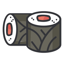 Icono de color de sushi