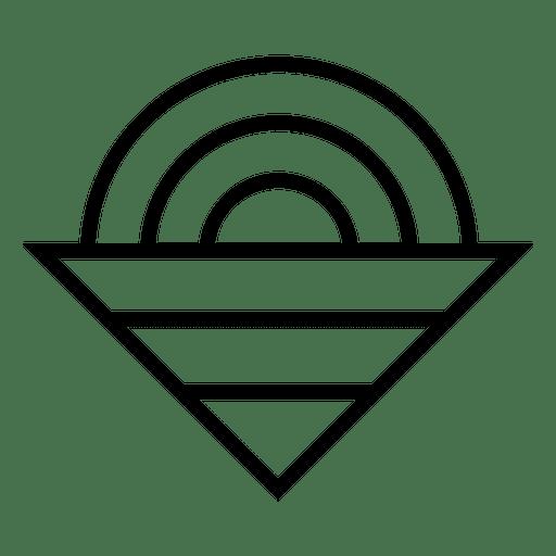 Logo de triangulo circulo Transparent PNG