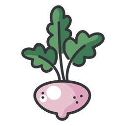 Turnip color flat icon