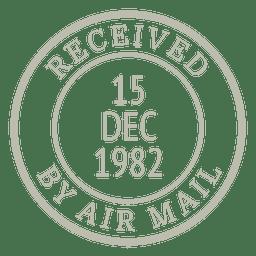 Vintage stamp post