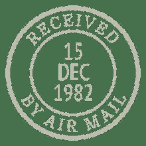 Vintage stamp post Transparent PNG