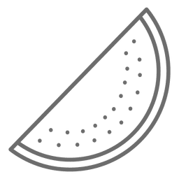 Fatia de ícone de melancia