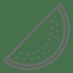 Sandía icono rebanada