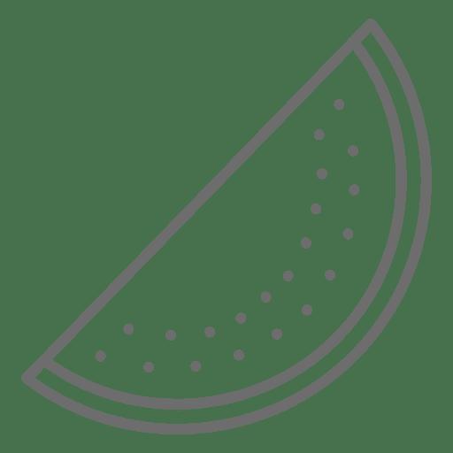Watermelon icon slice