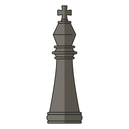 Rei xadrez figura negra Transparent PNG