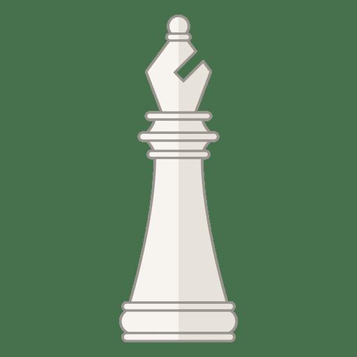 Figura ajedrez obispo blanco