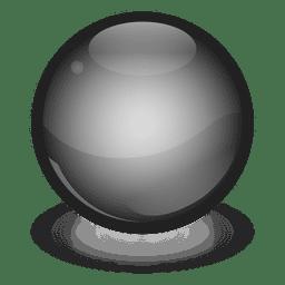 Bola de mármol negro