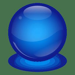 Bola de mármore azul