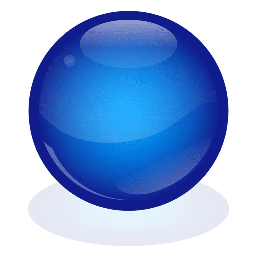 Bola de mármol azul