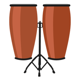 Congas percussion illustration