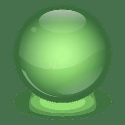 Bola de mármol verde