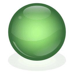 Green marble ball