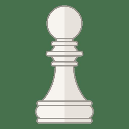 Figura de ajedrez peón blanco