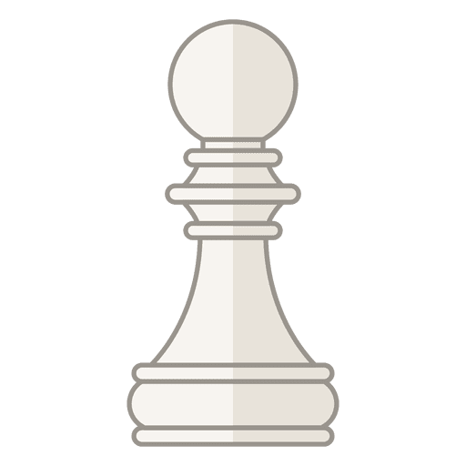 Pawn chess figure white Transparent PNG